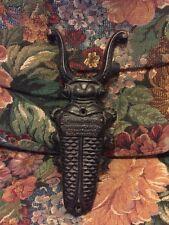Vintage CAST IRON Boot Jack Beetle OK Ornamental Iron Very Nice D. B. Harrigill