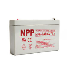 NPP 6V 7 Amp 6 Volt 7Ah Rechargeable Sealed Lead Acid Battery