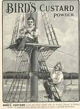 1905 Bird's Custard Powder hiding in Crow's Nest Vintage Small Ad