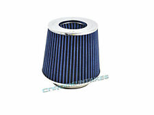 """BLUE 2008 UNIVERSAL 70mm 2.75"""" INCHES SHORT RAM/COLD AIR INTAKE FILTER"""