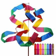 Multi Colour Gymnastic Ribbon Dancing Ribbon Dance Streamer Baton Twirling Rod