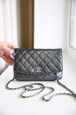 VERIFIED Authentic Chanel Quilted Patent Leather WOC Wallet On Chain Bag