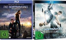 2 Blu-rays * DIE BESTIMMUNG TEIL 1+2 ( DIVERGENT / INSURGENT ) IM SET # NEU OVP$