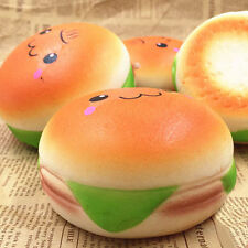 10cm Squishy Hamburger Toys Emoji Bread Slow Rising Phone Bag Strap Charm