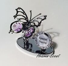 Nanna Butterfly Ornament Gift Ideas for Her with Swarovski Crystals SP509
