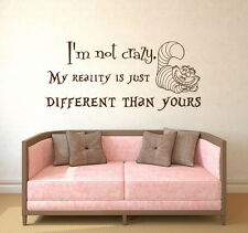 Alice in Wonderland Wall Decals Quotes Vinyl Sticker Decal Cheshire Cat Art X66