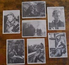 7 Vintage COMBAT! TV Show Series I 1-66 Trading Cards 1963 Vic Morrow