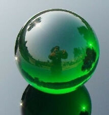 Asian Rare Natural Quartz Green Magic Crystal Healing Ball Sphere 40mm + Stand