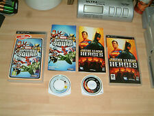 MARVEL SUPER HERO SQUAD + JUSTICE LEAGUE HEROES ......SONY PSP GAMES