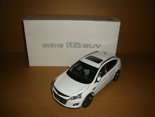 1:18 Dongfeng Yulon Luxgen U6 SUV model white color + gift