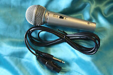 SALE! J&B Budget Priced Popular Style Hi-Z Microphone w/Switch, Silver, MC139S