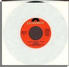"""Vangelis - Chariots of Fire + Eric's Theme - 1981 Polydor 7"""" 45 RPM Single!"""