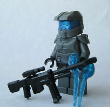 Lego Custom HALO MASTER CHIEF Spartan Minifigure -DARK GRAY- Sword Sniper