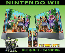 NINTENDO WII STICKER TINKERBELL AND FRIENDS FAIRIES PIXIES SKIN & 2 PAD SKINS