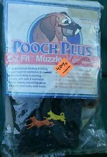 Pooch Plus E-Z Fit dog puppies mesh black Muzzle size 4 NWT 50% OFF SALE
