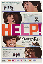 1960's The Beatles * Help! * From Japan Movie Poster Window Card 1965 13x19
