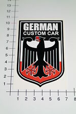 GERMAN CUSTOM CAR Aufkleber Sticker Adler Youngtimer OEM Motorsport Racing Mi208