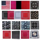 New 100% Cotton Skull Plain Paisley Bandana Hair Bands Scarf Neck Wrist Wrap