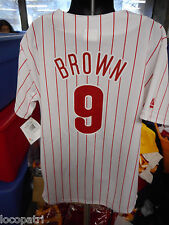 Majestic MLB Youth Philadelphia Phillies Domonic Brown Jersey NWT $60 L