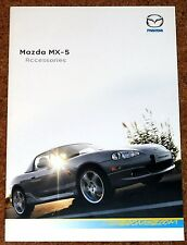 2004 MAZDA MX5 ACCESSORIES Sales Brochure - Alloy Wheels, Body Styling, Hard Top