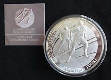 2012 5OZ SILVER PROOF BELARUS 100 ROUBLES COIN + COA OLYMPIC'S SKIING RARE 750