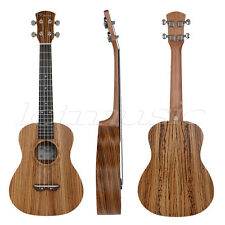 Kmise 26 Inch Tenor Ukulele Uke Hawaii Guitar Musical Parts Zebrawood Zebra Wood