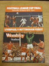 18/03/1978 Football League Cup Final: Liverpool v Nottingham Forest [At Wembley]
