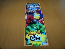 "MARVEL COMICS SUPER HERO SQUAD & THOR (BACK) 2009 MARVEL 7.25"" PROMO BOOKMARK"