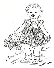 Vintage Crochet PATTERN to make Dress Baby Yoke Toddler Size 1-2 CrochetDress