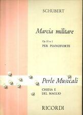 SC6 SPARTITO Marcia militare Op. 51 n. 1 -pianoforte Chiesa e Del Maglio Ricordi
