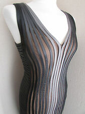 PHASE EIGHT HANNAH ILLUSION DRESS IN CHARCOAL/SILVER – SIZE 10 NEW WITH TAGS