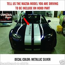 Dual Rally Stripes Fits MAZDA MX-5 Miata, 3 Sport, 6, Hatchback Touring CX7 more