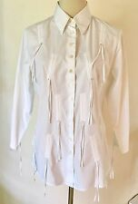 Quirky & Chic Anne Fontaine Crisp White Cotton Poplin Aiko Blouse