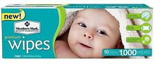 Members Mark Premium Diaper Baby Adult Wet Wipes 1000 ct Case (10 packs x 100)