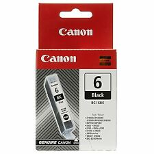 Genuine Canon BCI-6BK Black Ink Cartridge for Pixma iP5000 iP6000 iP6000D