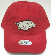 Arkansas Razorbacks Red Relaxed Fit Fitted Hat By Adidas, Size L/XL