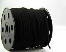 10yd 3mm Suede Leather Making/Beading/Thread flat DIY String Cords-Deep black