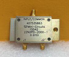 Mini-Circutis 2ZN2PD-2000-1 800 to 2000 MHz, 50 ohm, SMA, Coax Splitter/Combiner