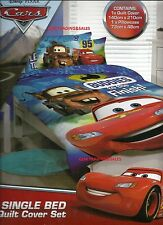 SINGLE BED QUILT COVER SET DISNEY PIXAR CARS Licensed Boys Buddies to the finish