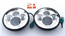 "Land Rover Defender LED paire phares 7 ""e marqué haute RRS Chrome 90 110"