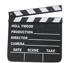 10 HOLLYWOOD CLAPBOARD CLAPPER CLAP BOARDS MOVIE SIGN DIRECTOR'S PROP CHALKBOARD