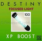 100 Destiny FOCUSED LIGHT XP Boost *GUARANTEED TO WORK* Taken King Redbull code