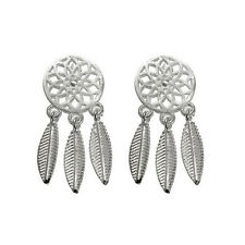 1Pair Bohemia Fashion Women Dream Catcher Feather Ear Stud Drop Earrings Jewelry