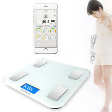 Wirelss Bluetooth Smart Scale Analyser Electronic Weight Body Fat Monitor
