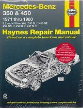 Mercedes-Benz R107 350SL 450SL & C107 350SLC 450SLC' 71-80 REPAIR MANUAL * NUEVO *