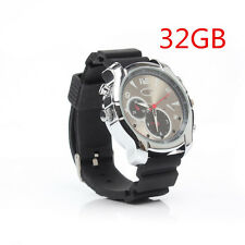 32GB Spy Watch Night Vision Camera Hidden DVR Cam HD 1920*1280 380mah Chargeable