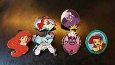 Lot 6 Pins Ariel Ursula Disney Little Mermaid