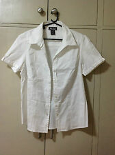 NULOOK White Polo Top Blouse  Small-Medium Closet Clean up