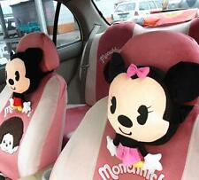 2Pcs Cute Mikey Mouse Car Seat Head Rest Cushion Pillows Neck Rest Pillow