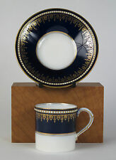 Royal Worcester bone china 'cabinet piece' coffee cup and saucer (date 1915)